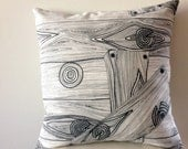 "18"" Wood print-Pillow Cover"