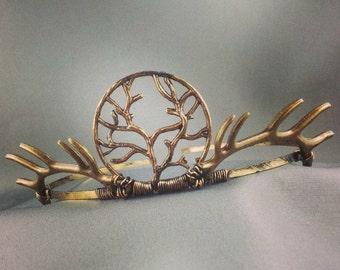 House Baratheon - Antique Golden Antler Crown Baratheon Crown Joffrey Crown Stanis Crown Renly Cosplay Baratheon Costume - Made to Order