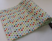 Baby Minky Blanket- Happy Dots Collection - Size (32x25)