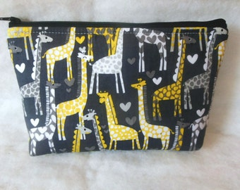 Giraffes Cosmetic zipper Bag