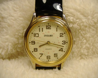 Vintage 1980s Embassy Quartz Watch