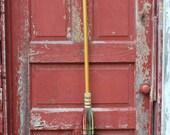 Handmade Shaker style round Broom, Winter Jewel