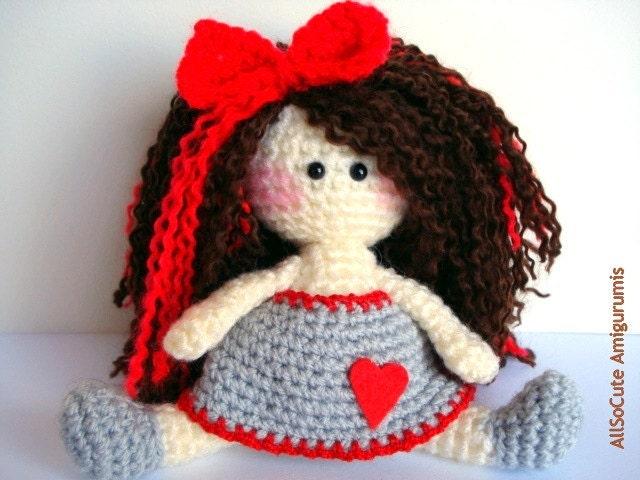 Amigurumi Hello Kitty Crochet Pattern : Pattern Amigurumi Doll Pattern Amigurumi Girl Pattern by ...