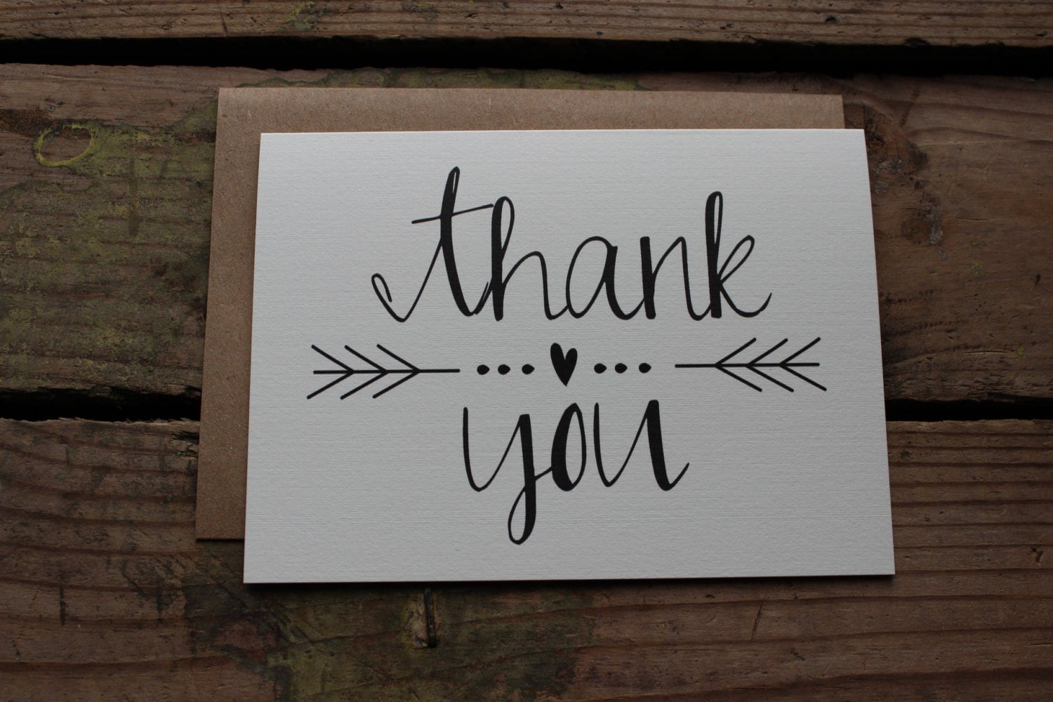 Thank You Cards with Envelopes / Wedding / Shower / Engagement