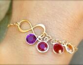 Valentine Gift Mom, mother daughter bracelet, infinity bracelet, mother bracelet, sisters bracelet, personalized bracelet, natashaaloha