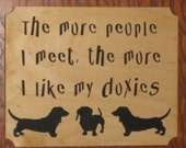 Fretwork Scroll Saw Wooden Doxie Picture - Weiner Dog - Dachshund - Home Decor - Wall Hanging