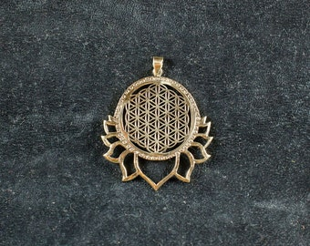 Lotus Flower Of Life Pendant