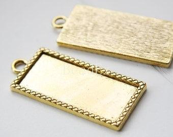 2pcs / Settings / Oxidized Gold Tone / Base Metal / Pendant / 57x25mm (YJ12862//D154)
