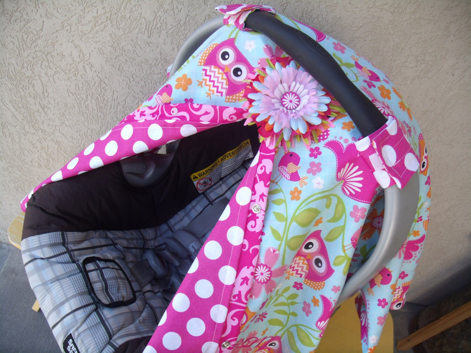 Car Seat Cover Owl Princess Carseat Canopy