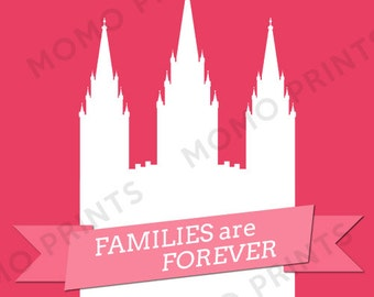 Families Are Forever - LDS Temple Digital Print