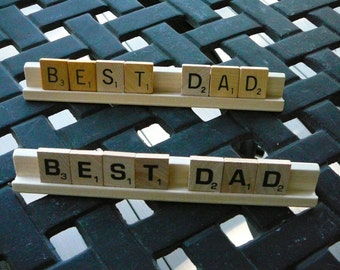 Father's Day Sign/Scrabble Pieces Sign/BEST DAD/