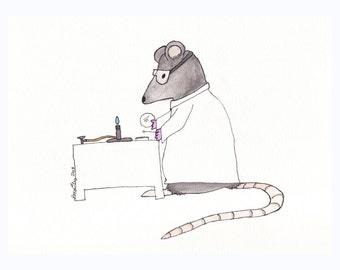 Lab Rat- 5x7 Print