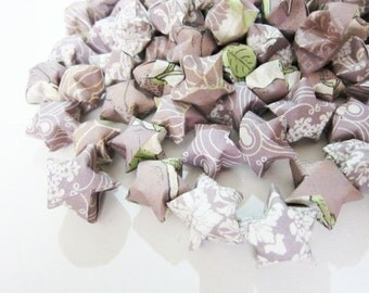 Final SALE 110 Dusty Lilac Origami Stars