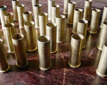 "550 Brass Bullet Shells Casing Straight Side About 1 1/8 "" each Various Vintage for Jewelry and Rustic Altered Art Projects"