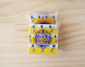 ASAMIDORI Masking tape, Deco-Deco roll, Die cut, MARCH
