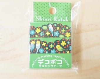 Deco Poco masking tape, Shinzi Katoh, Parrot, Die cut
