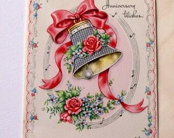 1940s vintage Anniversary card, unused, with envelope