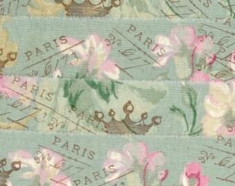 Set of 2 - Vintage French Script Ribbon