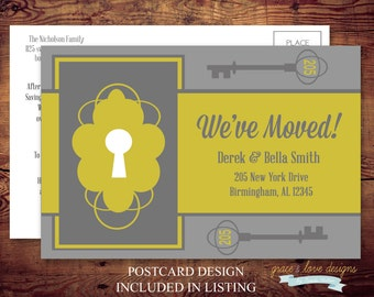 Printable Moving Announcements Postcard (digital file) DIY Printing at home or your choice of printer