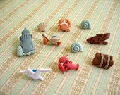 Beach Thumbtack, Beach Animal Push Pin, Ocean Notice Board Pins, Seaside Creatures, Fridge Magnets, Office Decor