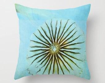 Pillo Cover, Jellyfish Pillow, Aqua Pillow, Sea Blue Pillow, Beach Photo Pillow, Sea Life Pillow, Beach Cottage Pillow, 16x16 18x18 20x20