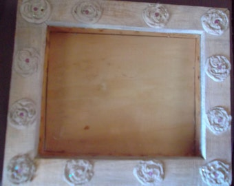 SHOW FRAME, display box, wood, home decor, cottage chic, frame