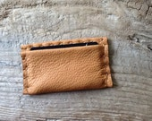 Leather Credit Card Case - Card Case - Business Card Holder - Hand Stitched Card Case - Wallet