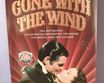 Vintage Gone with the Wind movie book by Herb Bridges, 1989, photographs, 1930's movie, southern belle, civil war, wedding gift for bride