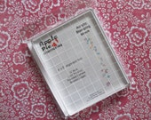 """Acrylic Stamping Block  for Mounting Rubber Stamps 4"""" X 5"""" with Alignment Grid - Qty 1 (350549)"""