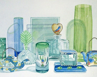 ODDS AND ENDS - Original Watercolor