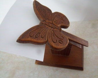 Butterfly Recipe Card Holder   Clothspin Card Holder