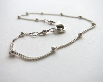 Delicate Sterling Silver Bracelet Dot Silver Bracelet