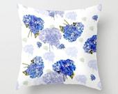 Indoor Decorative Pillow Cover,  Cape Cod Hydrangea Nosegay
