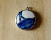 Ming dynasty pottery pendant blue and white destash