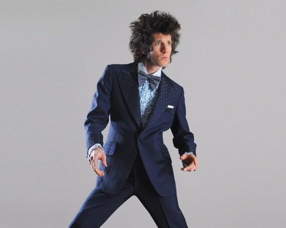 1970s Clothes Men Vintage 70s Mens Tuxedo 1970