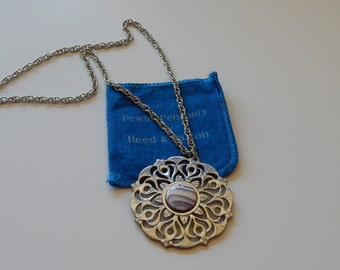 Reed and Barton Pewter Pendant