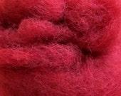 Dark red needle felting  wool 0,5oz/ 14g