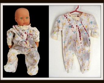custom made Lil Ass Kicker Gerber ZOM-BABY ZOMBIE Onesie Halloween Costume Infant 3-6 months