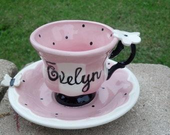 Paris Tea Cup and Saucer