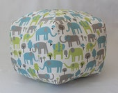 "24"" Ottoman Pouf Floor Pillow Trunk Tales Mantis"