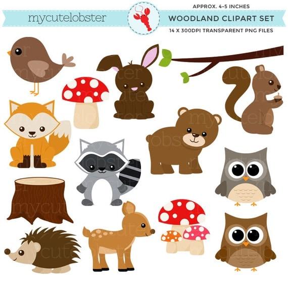 free clip art woodland animals - photo #7