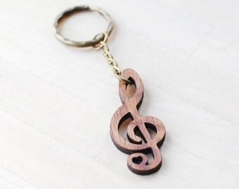 Treble Clef Keyring, Music Keychain, Housewarming Gift