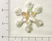 Sequin Snowflake Beaded Applique