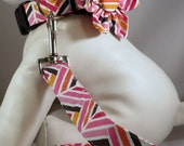 Dog Collar with Flower or Bow Tie and Leash  - Pick Any Fabric in Shop