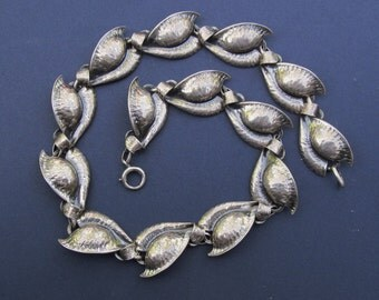 Antique Danecraft Sterling Leaf Necklace Jewelry Circa 1950