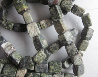 Marble Rainforest Cube Beads 12-15mm 14 Beads