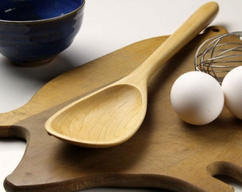 Handmade wooden spoon roux spoon made of Sugar Maple wood , must have kitchen essential cooking utensil
