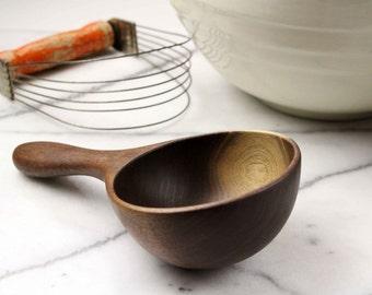Handmade wooden spoon 1 cup measure measuring spoon of Walnut