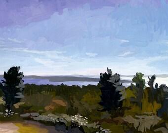 "5x7"" print - landscape - ""Mackinac Lookout"