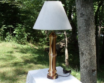 Absolutely Magnificent Hand Turned Mixed Hardwood Lamp from BlackWater Workshops
